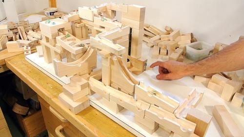 Tracks Built With The Marble Run Building Blocks Building Blocks Marble