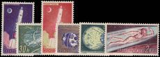 Czechoslovakia 1961 Space Reseach 1st series unmounted mint.