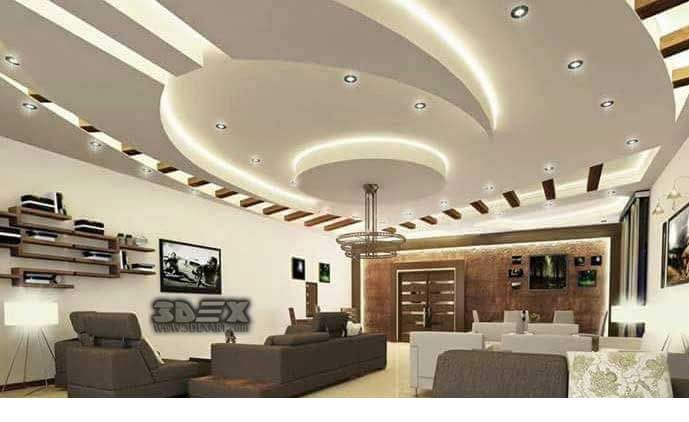 Latest false ceiling designs for hall modern pop design - Latest ceiling design for living room ...