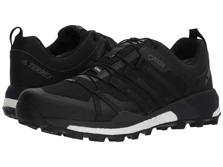Adidas Outdoor Terrex Skychaser Gtx Men S Running Shoes Black Running Shoes In 2019 Shoes Adidas Black Running Shoes