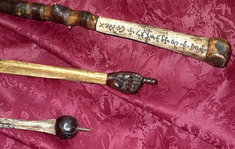 Blackthorn And Bone Carved Blasting Rod Bone And Carved Rosewood Wand Bone And Carved Rosewood Wand With Belem Traditional Witchcraft Bone Carving Folk Magic