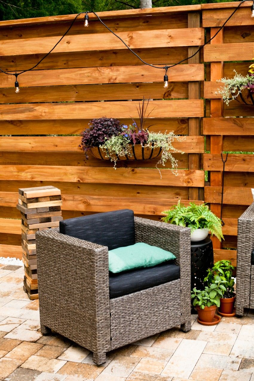 diy horizontal slat fence in 2020 diy privacy fence on inexpensive way to build a wood privacy fence diy guide for 2020 id=59961