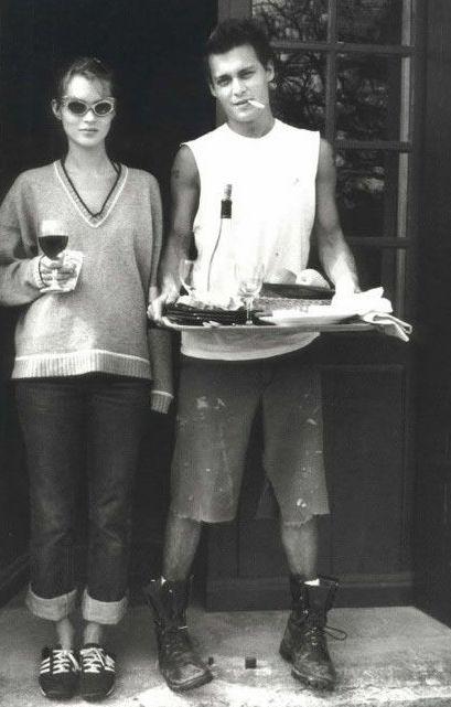 Johnny depp & Kate Moss, Circa 1995