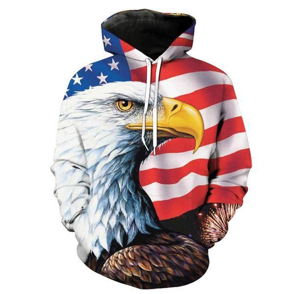 American Flag Eagle Hoodie America Usa Americanflag Hoodies Unisex Hoodies Casual Sweatshirt