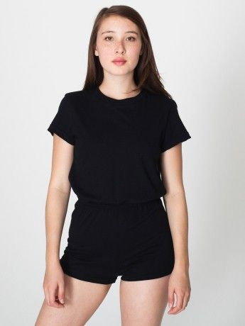 94f1b65660e6 Jersey T-Shirt Romper in Black from  americanapparel