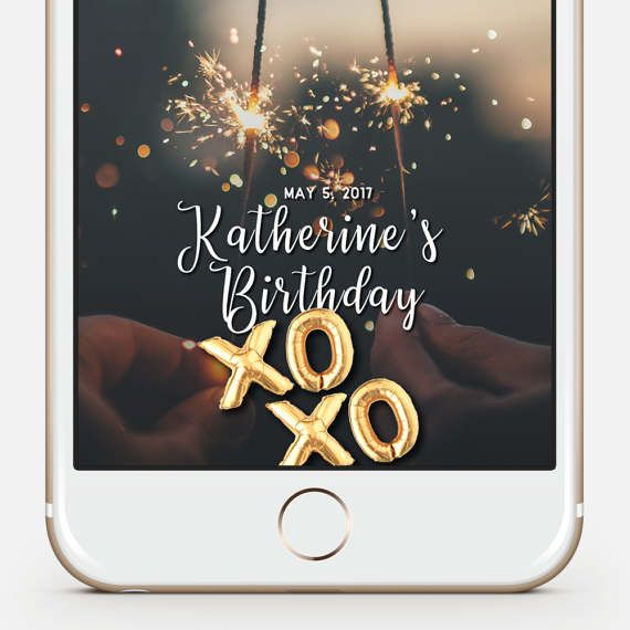 birthday snapchat filter Gold Balloons Snapchat, Snapchat Geofilter Birthday, 21st Birthday  birthday snapchat filter