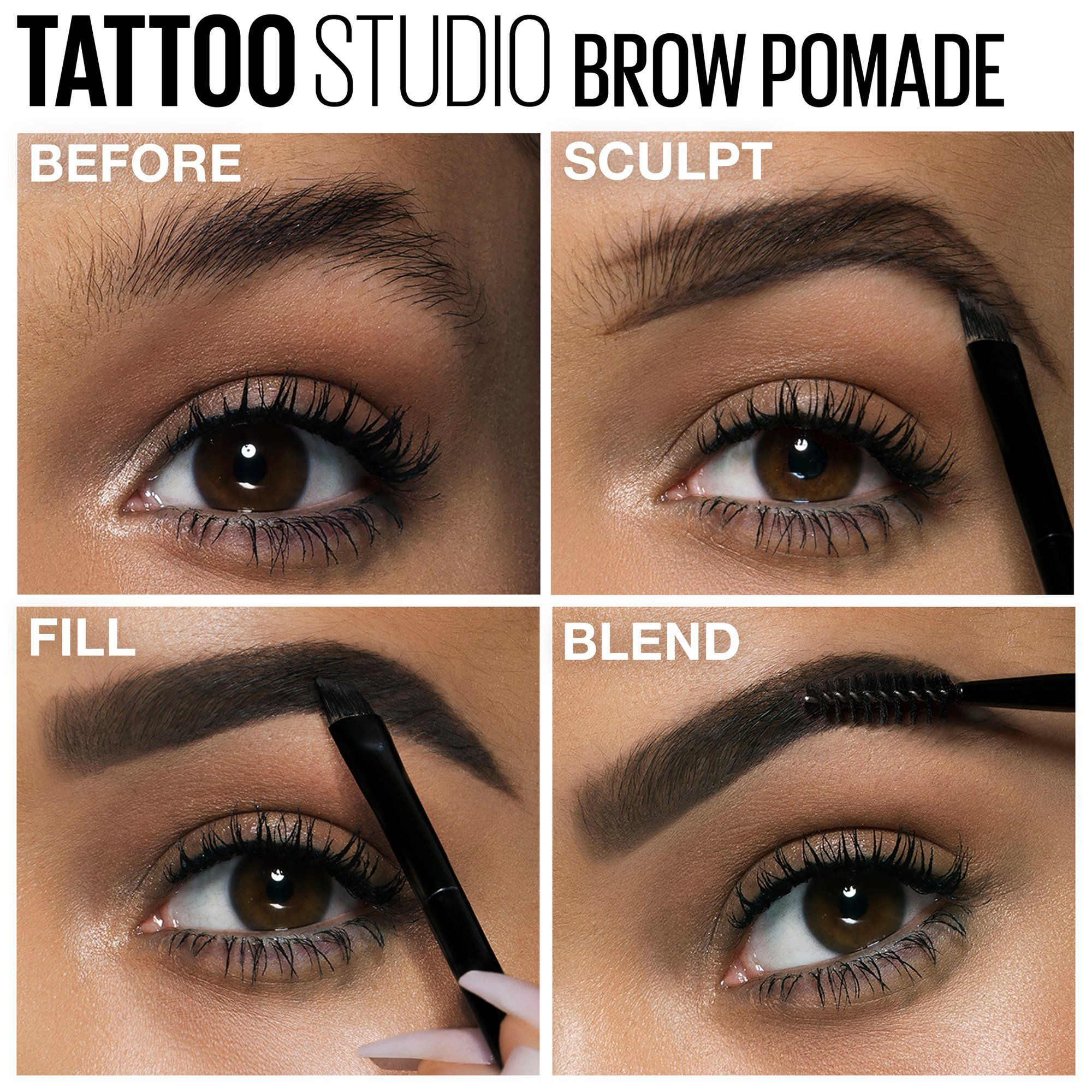 Maybelline Tattoostudio Brow Pomade Long Lasting Buildable Eyebrow Makeup Medium Brown 0 106 Oz Walmart Com In 2020 Eyebrow Makeup Eye Makeup Tutorial Eye Makeup