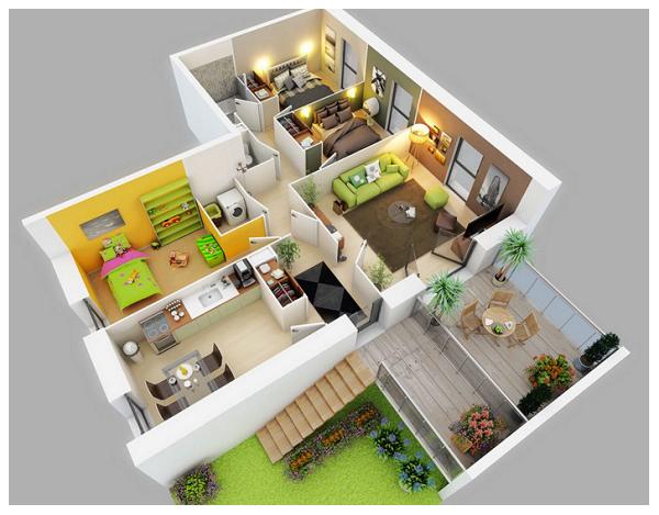 planos de casas modernas por dentro