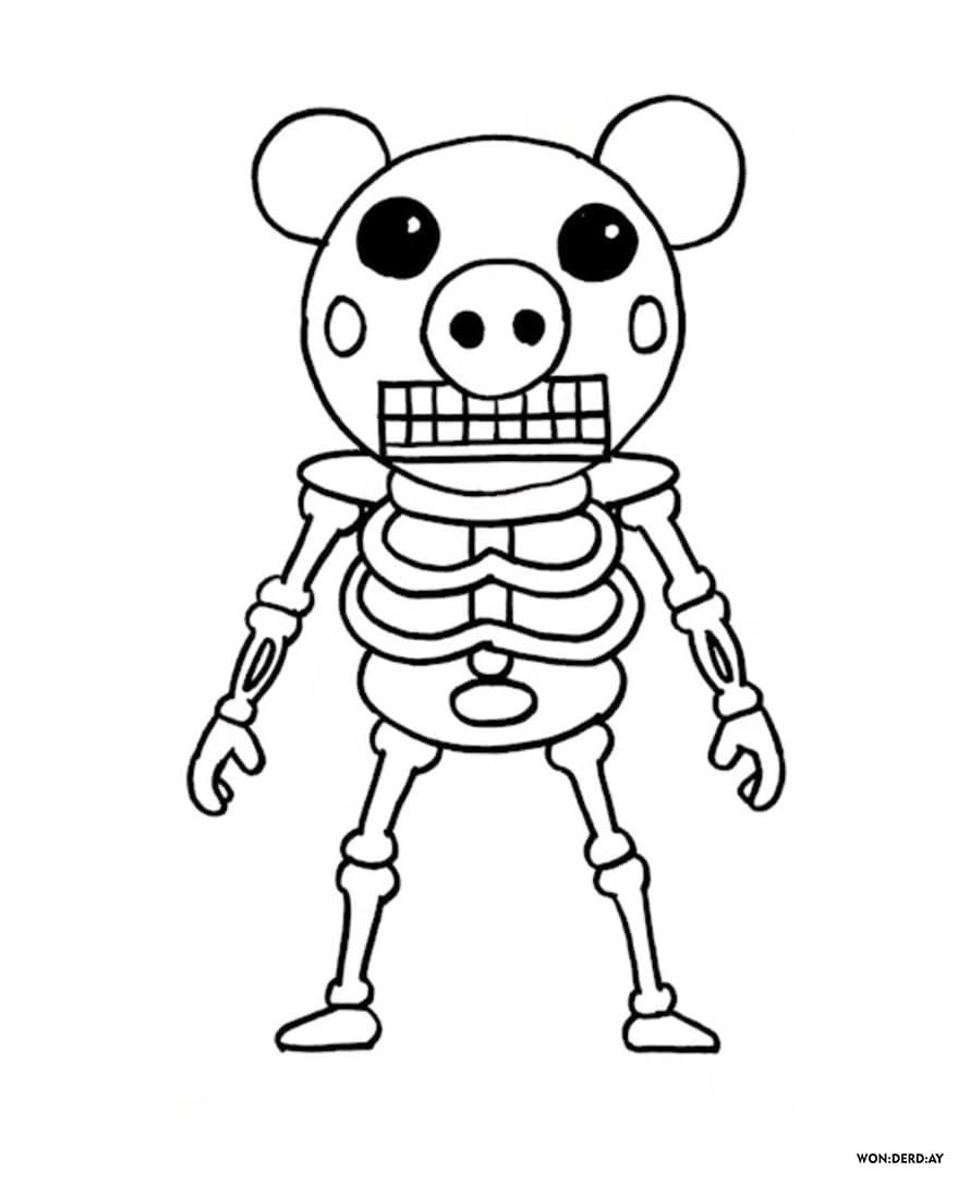 Coloring Pages Roblox Piggy Adopt Me And Others Print For Free Coloring Pages Cool Coloring Pages Cute Coloring Pages