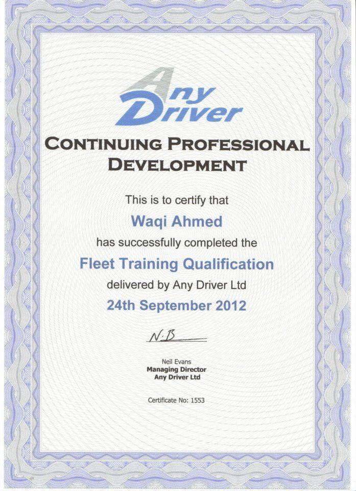 Fleet Training Qualification Driving school