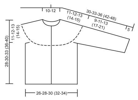 "Virkattu DROPS kaarrokejakku taskureunuksilla ""Alpaca""-langasta. Koot 56/62-98/104 cm. ~ DROPS Design"