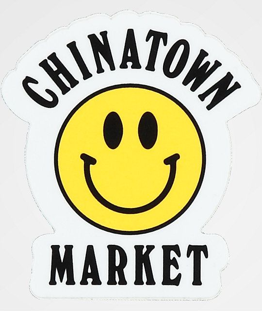 Chinatown Market Yellow Smiley Sticker Face Stickers Chinatown Smile Face