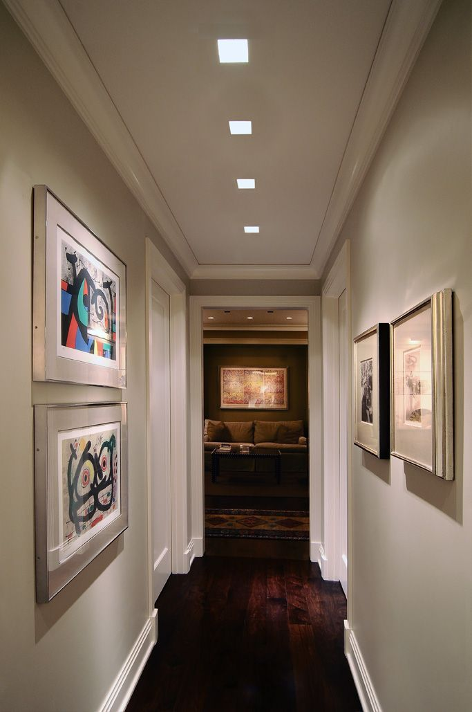 Love the crown moulding in the hallway! Square Recessed Lighting For Hallway & Image result for hallway lights | Ståhlarm | Pinterest | Hallway ... azcodes.com