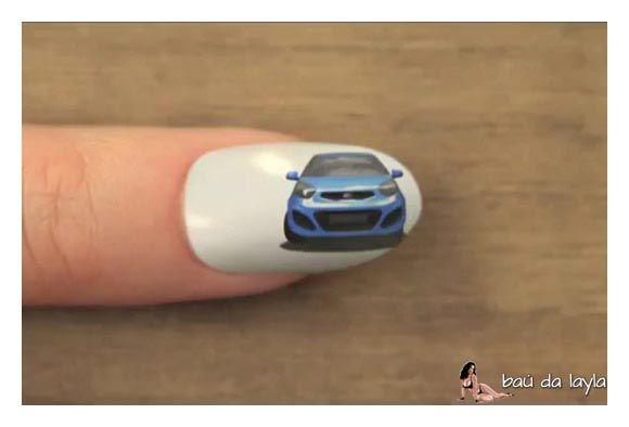 Kia Picanto Tem Comercial Todo Feito Em Nail Art Em Nails Kia Picanto Nails