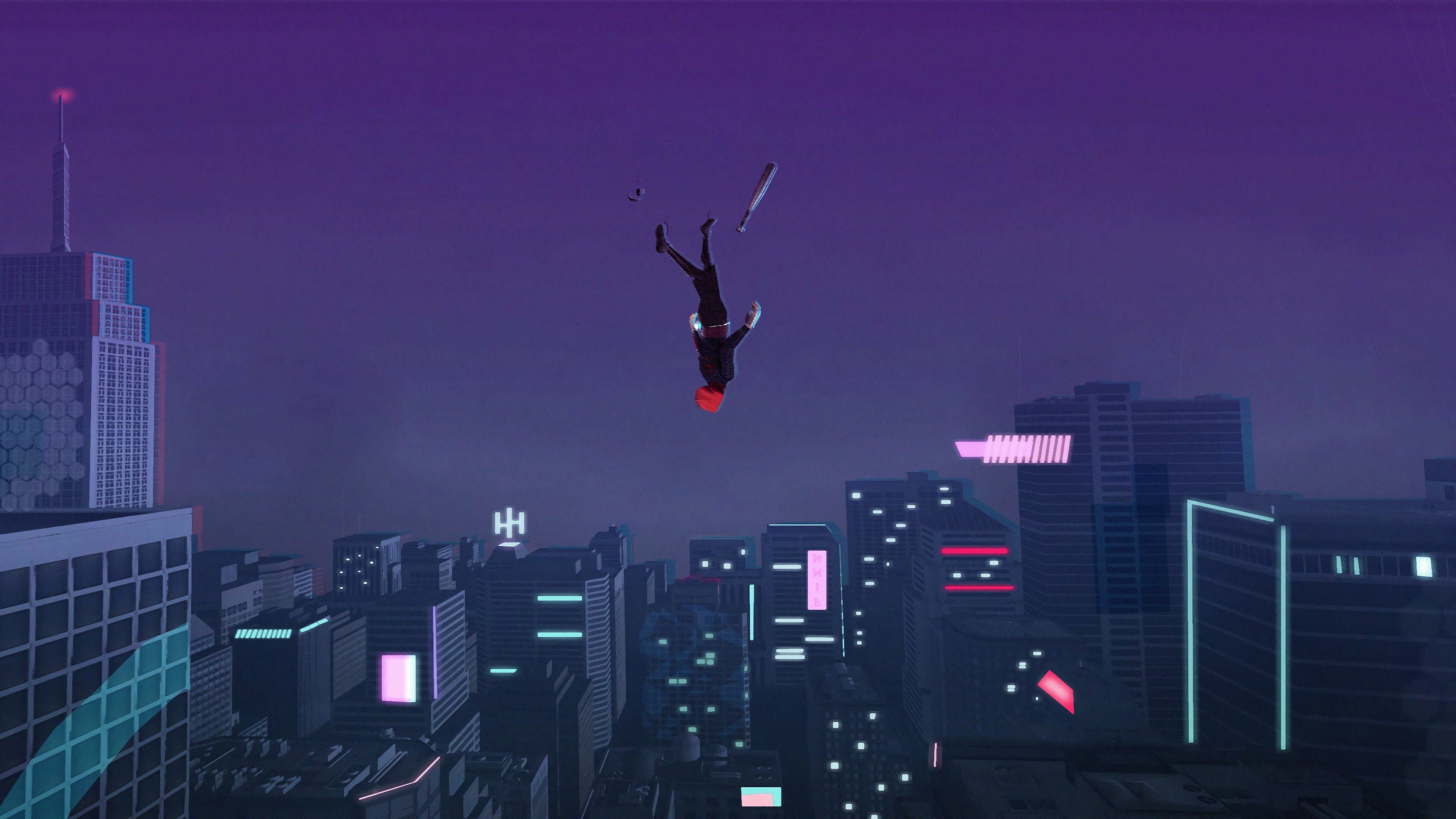 Miles Morales Leap Of Faith Spider Man Into The Spider Verse 4k 28369 Macbook Wallpaper Nature Iphone Wallpaper Iphone Wallpaper Inspirational