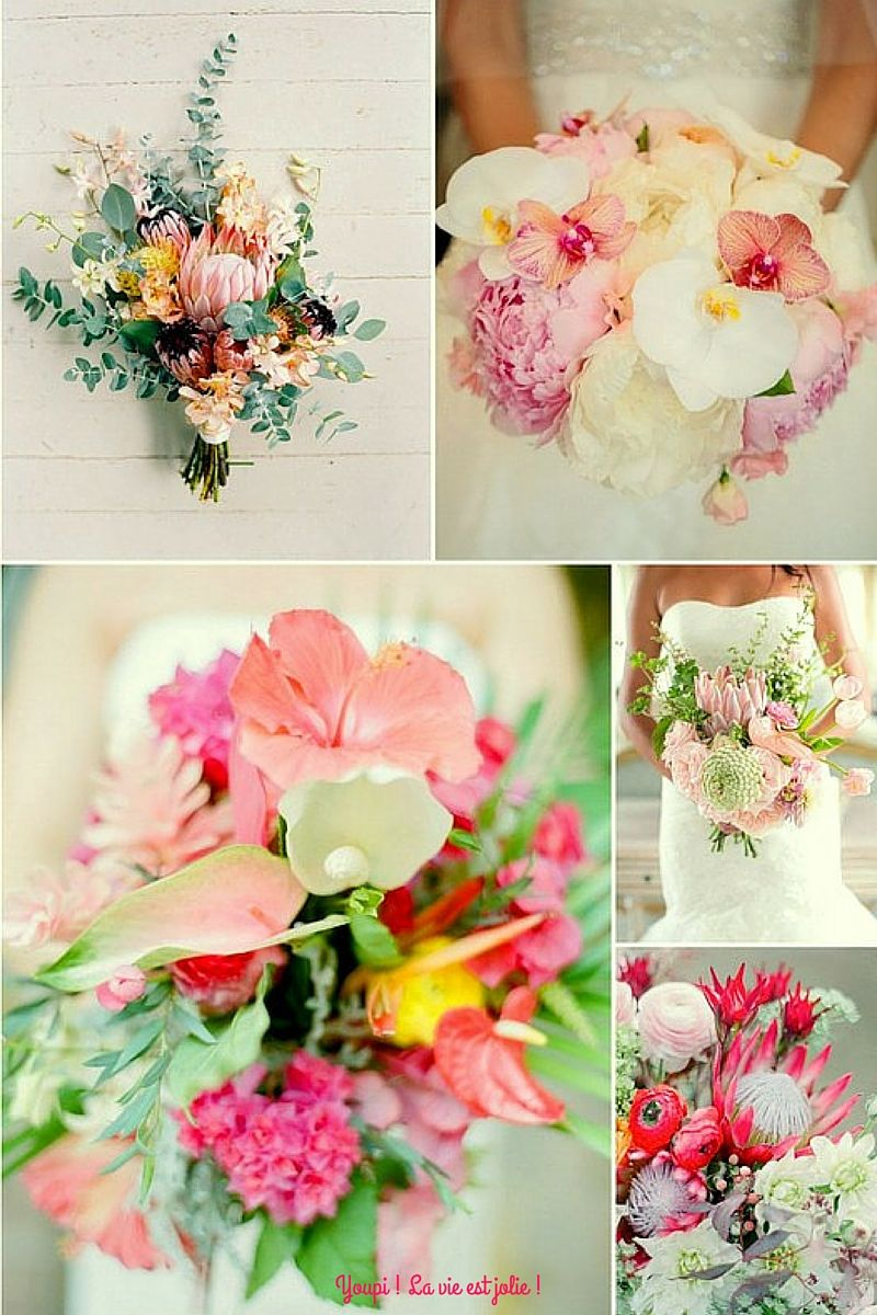 Je veux un mariage tropical mariage chic wedding and for Bouquet exotique