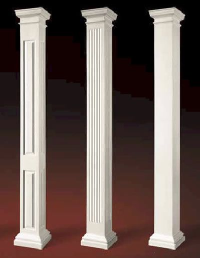 Pvc combination column wrap shaker panel houses pinterest porch columns front and home projects also rh