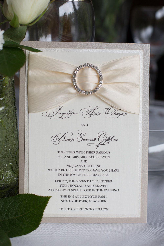 Bling Wedding Invitation Ivory And By Eleven18designstudio On Etsy: Elgant Ivory Silver Bling Wedding Invitations At Reisefeber.org