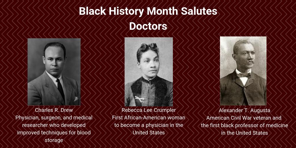 Doctors Black history month, War veterans, Black history