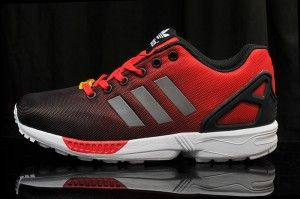 En solde France Chaussures de course Adidas Originals ZX Flux Reflective Homme  Rouge Feu/Noir