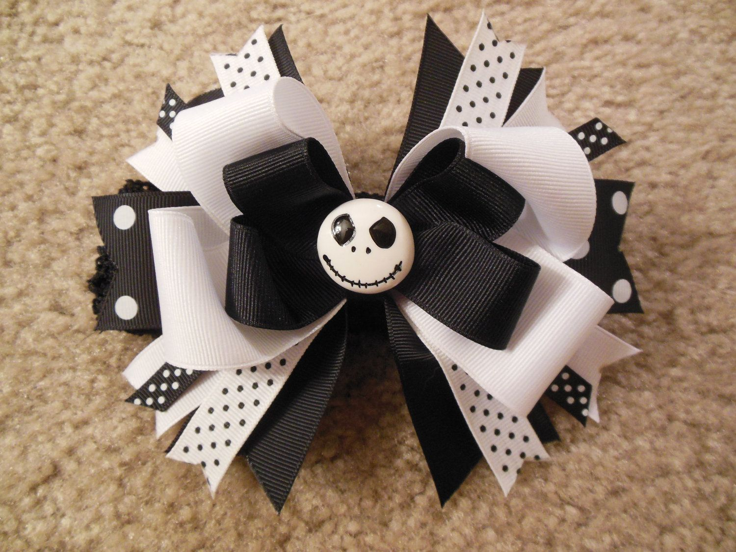 Nightmare before Christmas inspired hairbow with free crochet ...