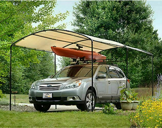 Outdoor Carport Portable Garage Shelter Metal Frame Truck
