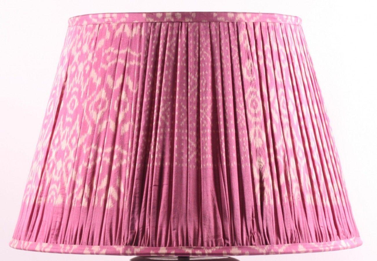 50cm Bright Pink Ikat Lampshade Lampshades Samarkand Design Lampshades Bright Pink Ikat