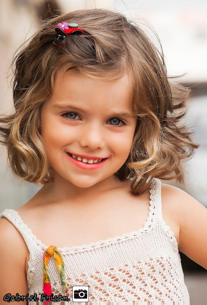 Sweet little girl by Gabriel Frisan  Little girl haircuts, Girls