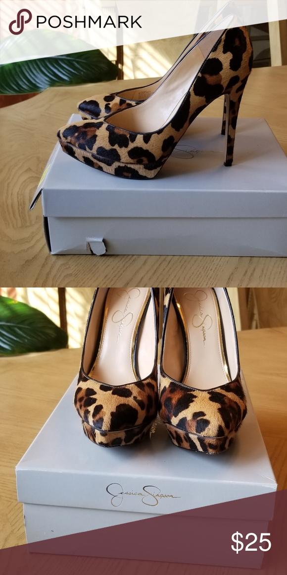 jessica simpson leopard print pumps