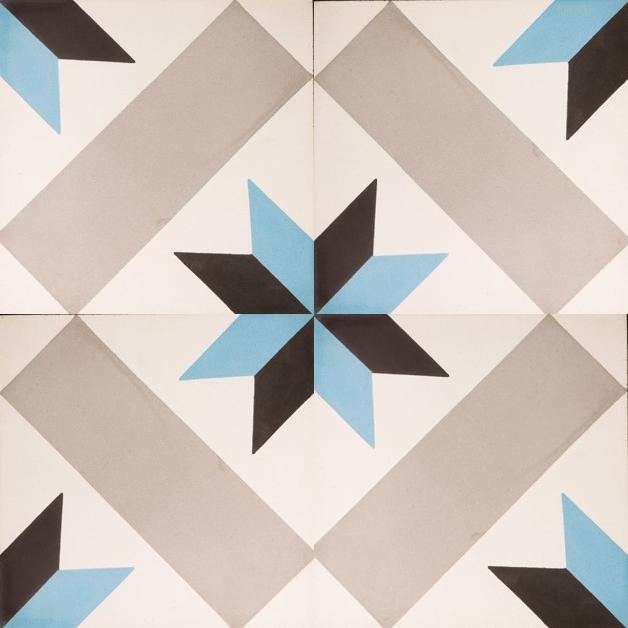 VN Negra 27 Portugese cementtegel van Designtegels.nl