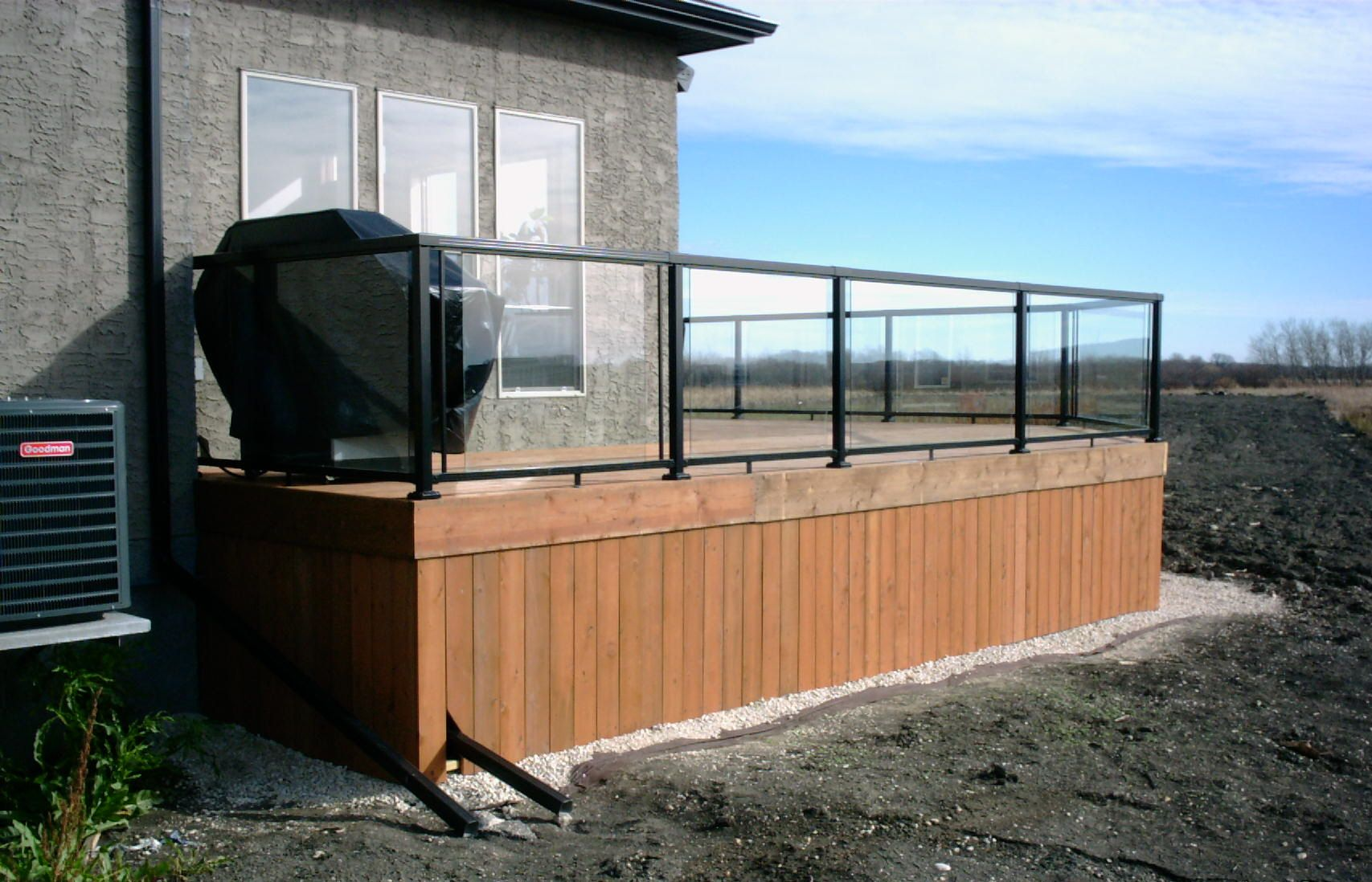 Glass railings for decks - Black Wood And Aluminum Deck Railing See 100s Of Deck Railing Ideas Http