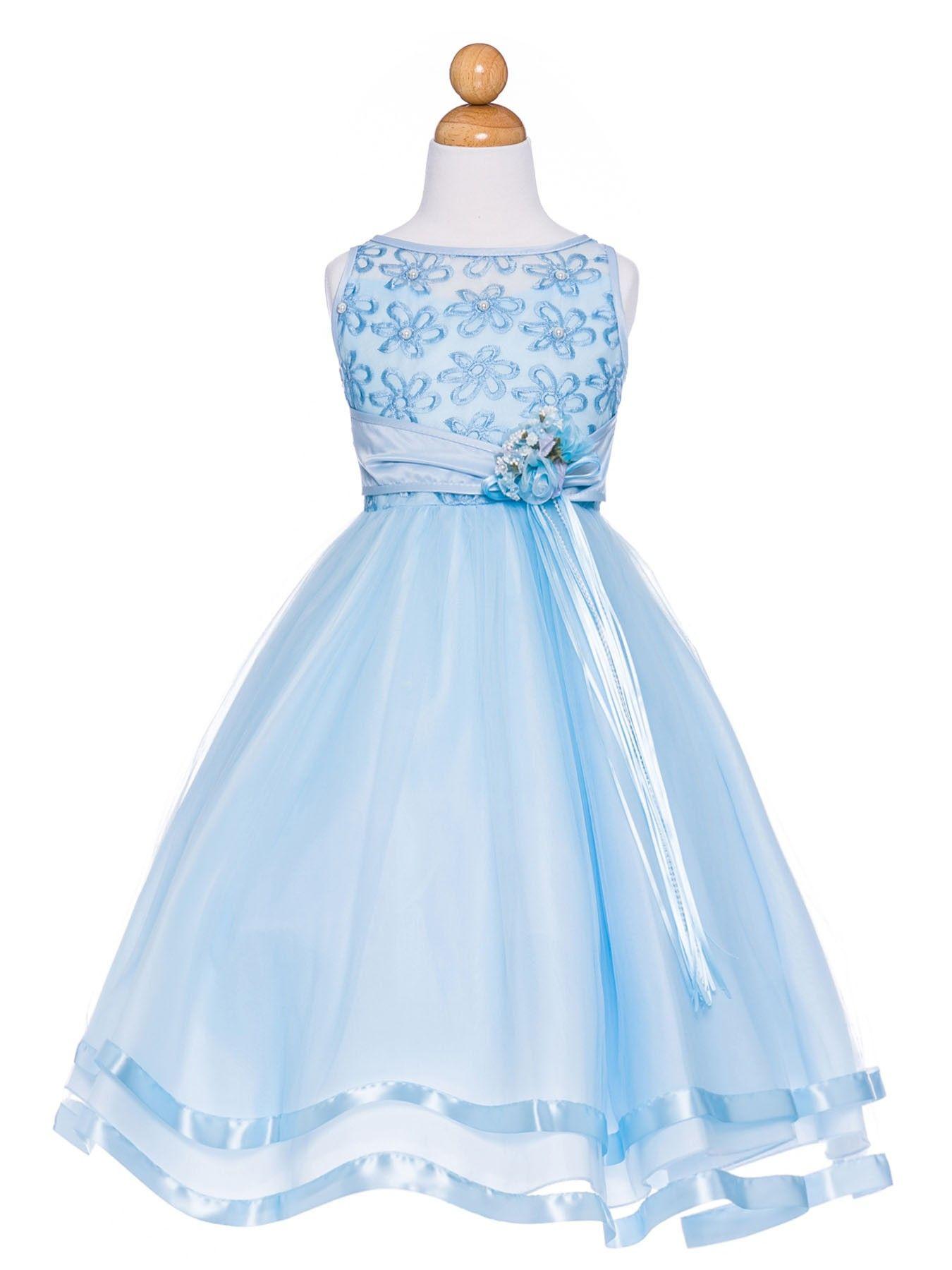 Resultado De Imagem Para Blue Dresses For Flower Girl Vestidos In