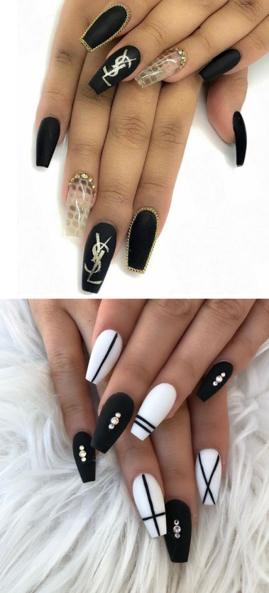 🌺 11+ Matte Black Coffin Nail Ideas Trend in Cool 2019 🌺