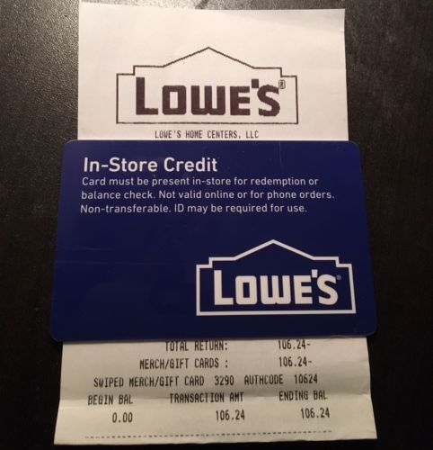 Coupons Giftcards 106 42 Lowe S Home Improvement Merchandise
