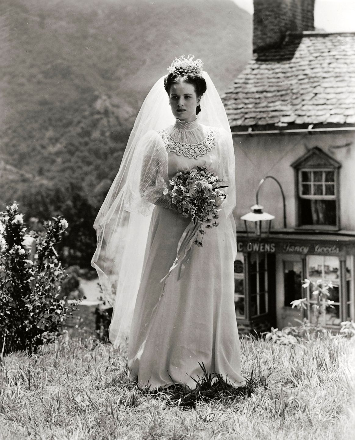 Wedding dress donations for military brides  Maureen OuHara looking tragic and beautiful in HOW GREEN WAS MY