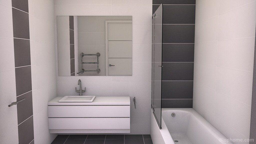 baños con azulejos de dos colores - Buscar con Google