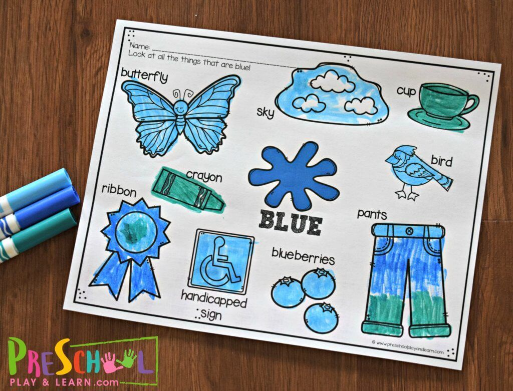 Free Colors For Kids Worksheets With Images