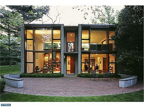 Mid Century Modern House Designed By Louis I Kahn An Icon Of