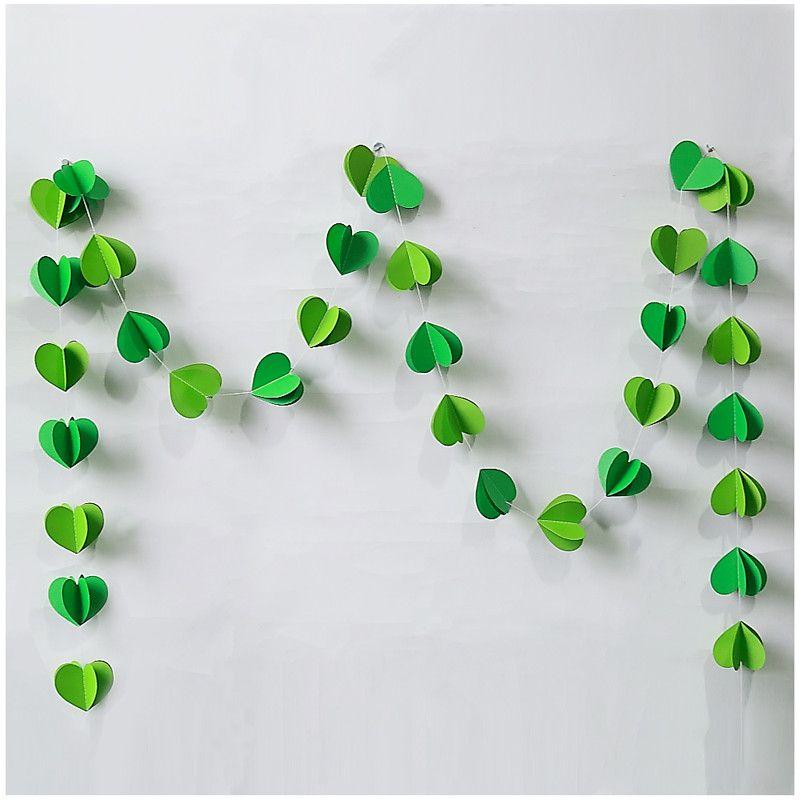 Click To Buy U003cu003c 3M 3D Green Heart Paper Garland For Birthday Party. U003eu003e