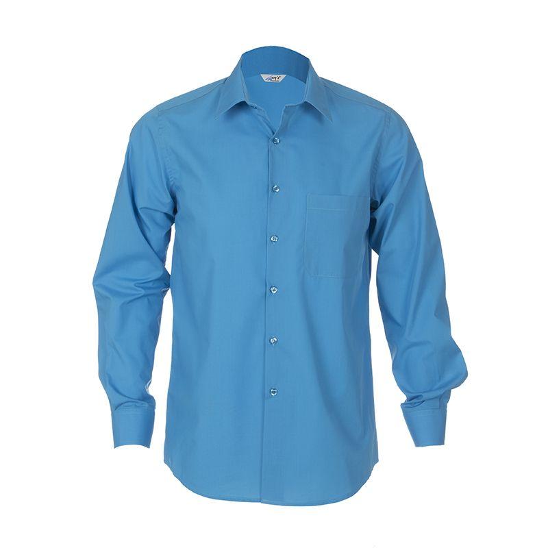 61282f0711 2658 Camisa chico manga larga color turquesa  uniformes  hostelería   camarero  Garys
