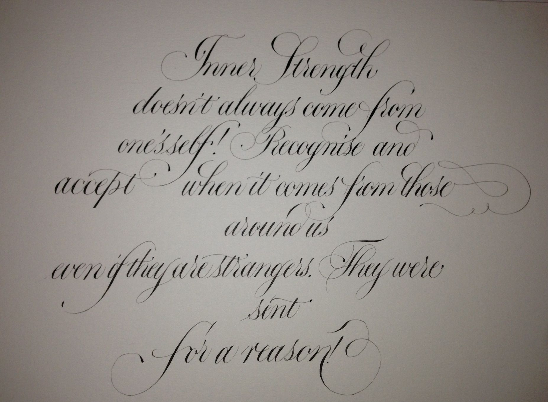 Copperplate Calligraphy Quote Type Calligraphy