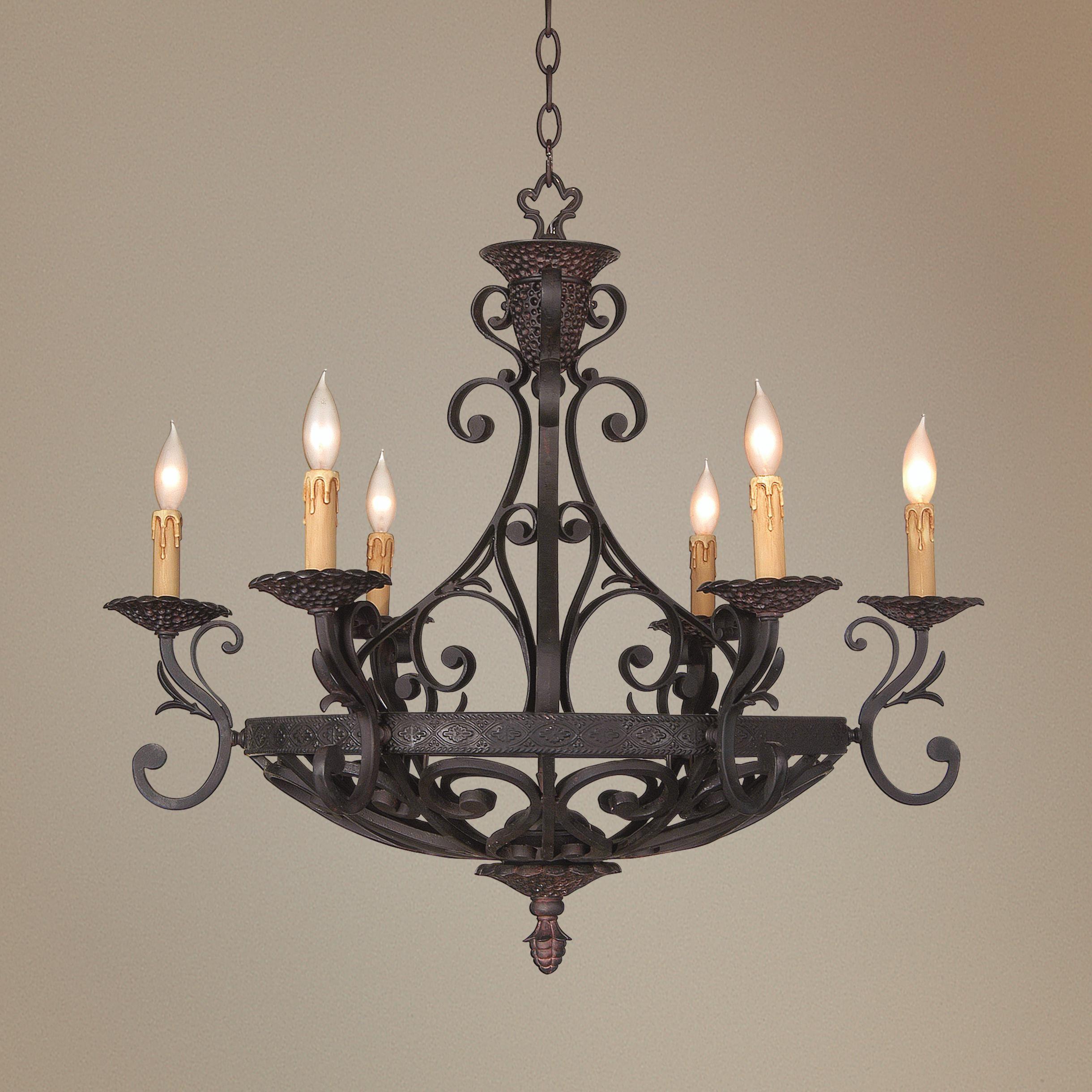 Kathy Ireland 32 1 2 Wide La Romantica Chandelier 23280 Lamps Plus Iron Chandeliers Rustic Pendant Lighting Chandelier
