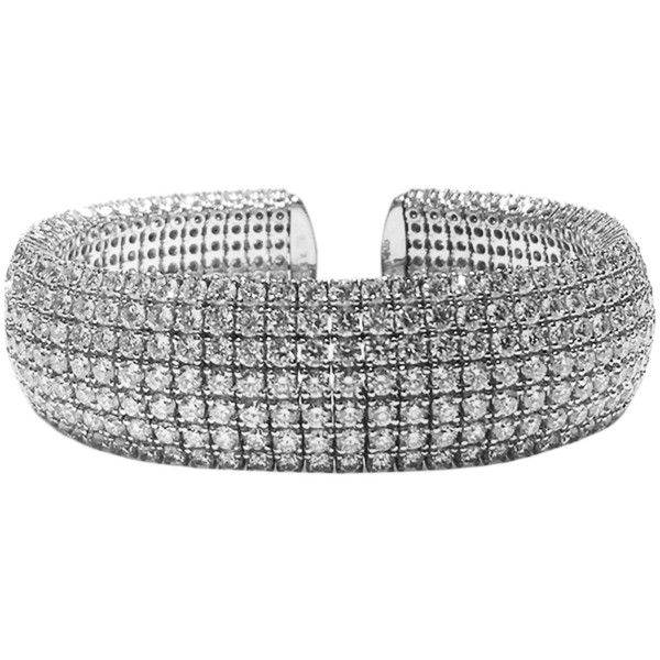 23 25ctw JeanShevy Designs Flexible Diamond Cuff Bracelet in 18k