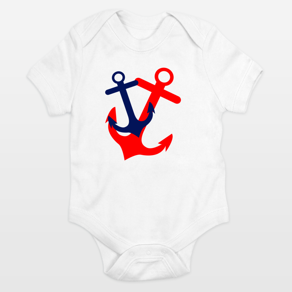Fun Indie Art from BoomBoomPrints.com! https://www.boomboomprints.com/Product/indulgemyhearti/Red_and_Navy_Anchors_with_Chevron/Onesies/0-3M_Cloud_White/