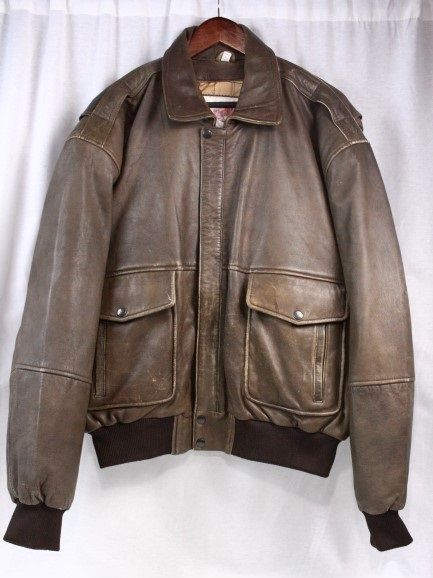 5ea1ef594 Details about Mirage Men's Jacket Bomber Aviator Vintage Leather ...