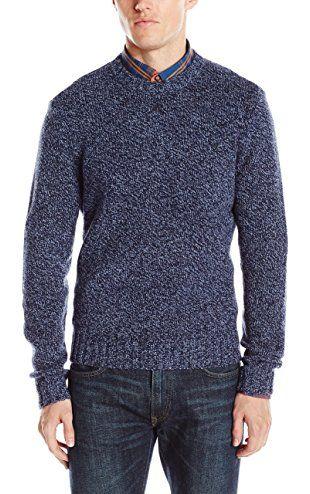Original Penguin Men's Lambswool Blend Crew Neck Sweater, Dark Sapphire,  XX-Large ❤