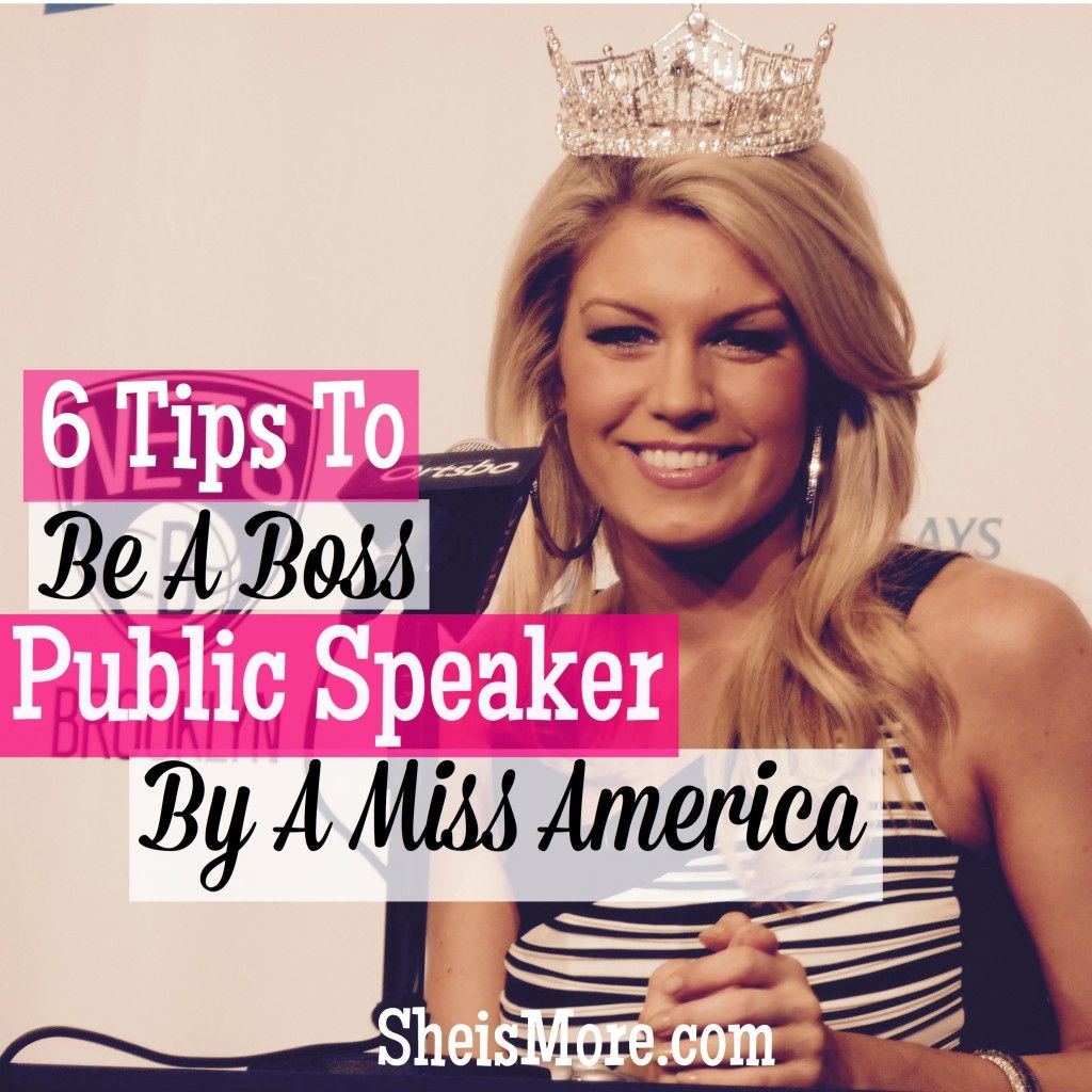 6 public speaking tips from a miss america she is more she is have you ever met someone that is so good at public speaking that you forget you re listening to a speech i know it s over and suddenly you feel duped