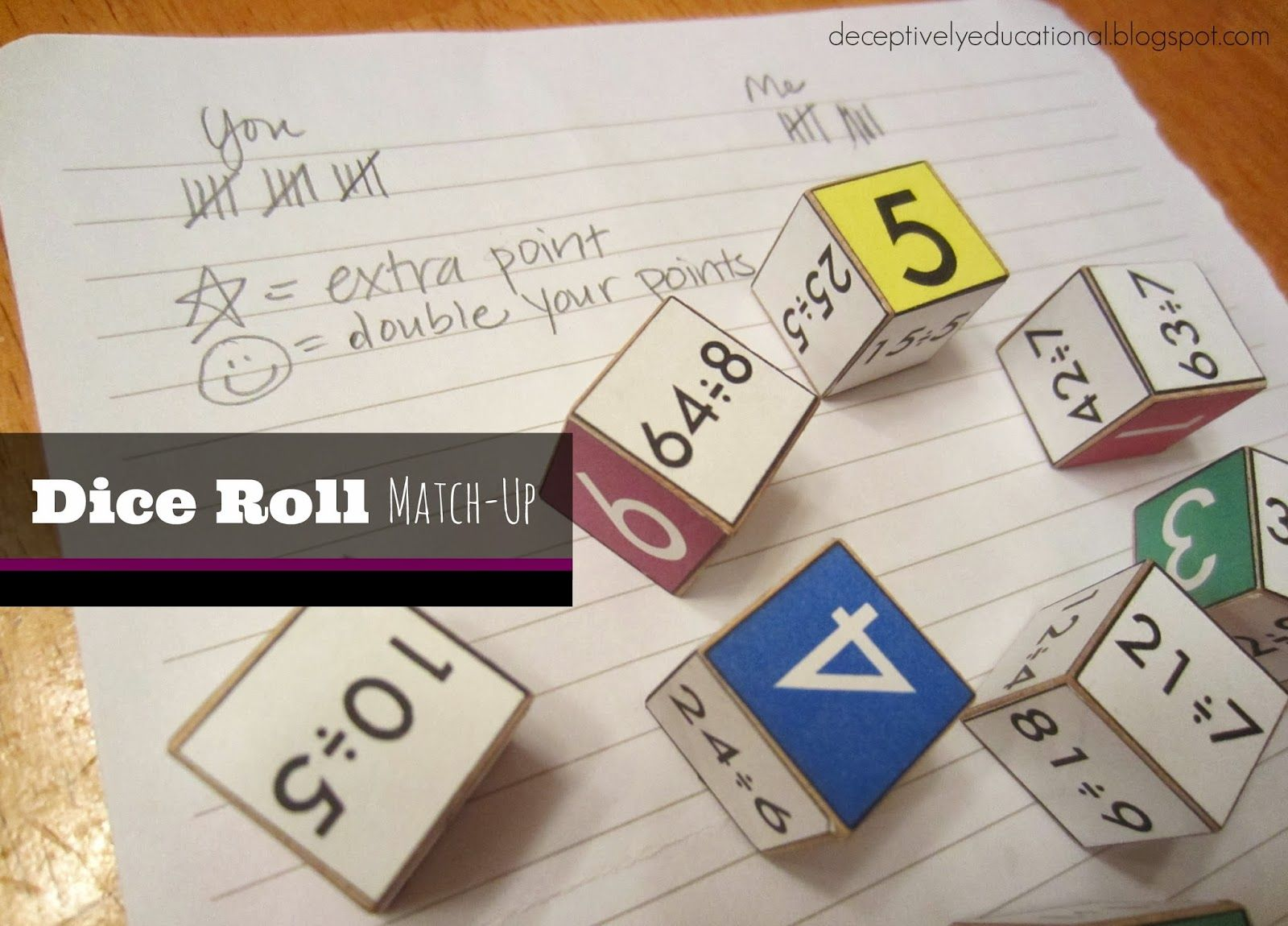 Relentlessly Fun Deceptively Educational Dice Roll Match