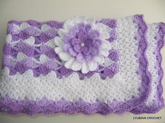Crochet PATTERN Crochet Baby Blanket Pattern por LyubavaCrochet ...