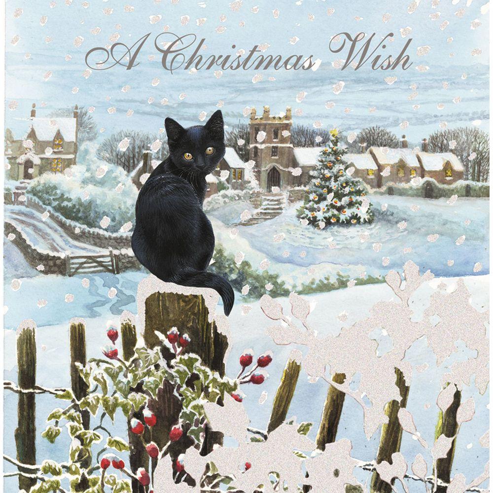 Luxury boxed christmas cards black cat christmas wishesg 1000 luxury boxed christmas cards black cat christmas wishes kristyandbryce Choice Image
